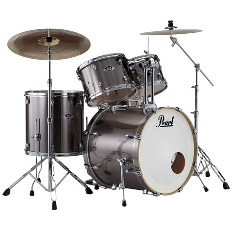 """Pearl Export 20"""" Smokey Chrome Complete Drumset « Schlagzeug"""