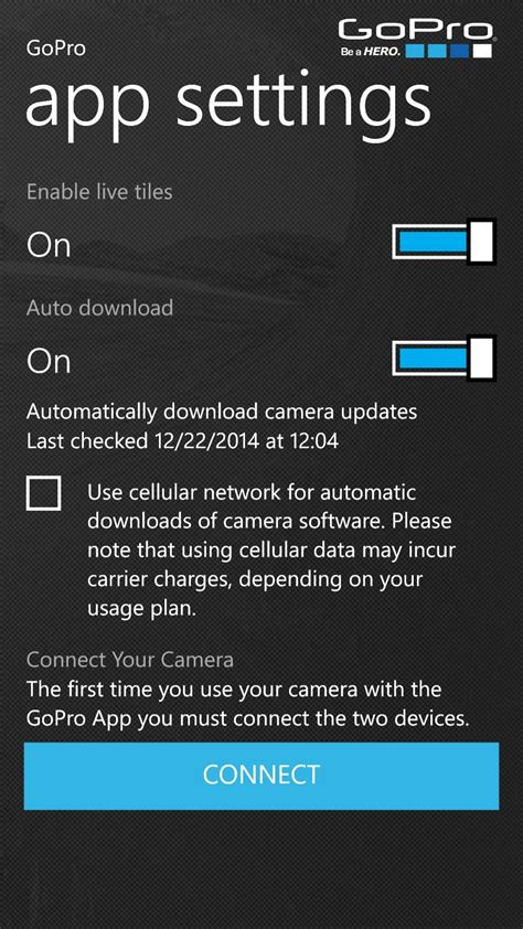 GoPro App for Windows Phone Gets Updated, Adds HERO4