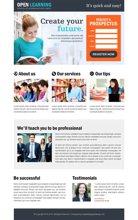 Top 10 most converting education landing pages