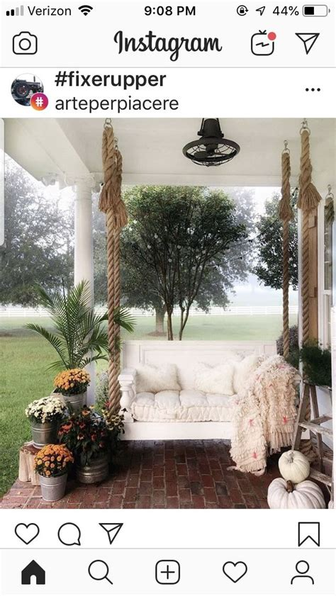 Pin by Vicki on Swings in 2020 | Porch swing, Porch