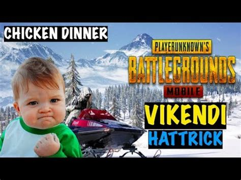Vikendi Chicken Dinner Hat-trick in PUBG Mobile | Live