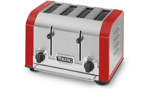 Viking Professional Toaster, 4-slot Bright Red | Cutlery