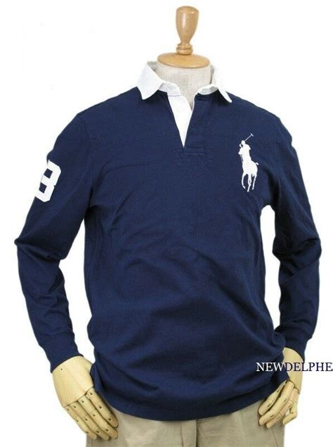 NWT Polo Ralph Lauren Men's Big Pony Long Sleeve Rugby