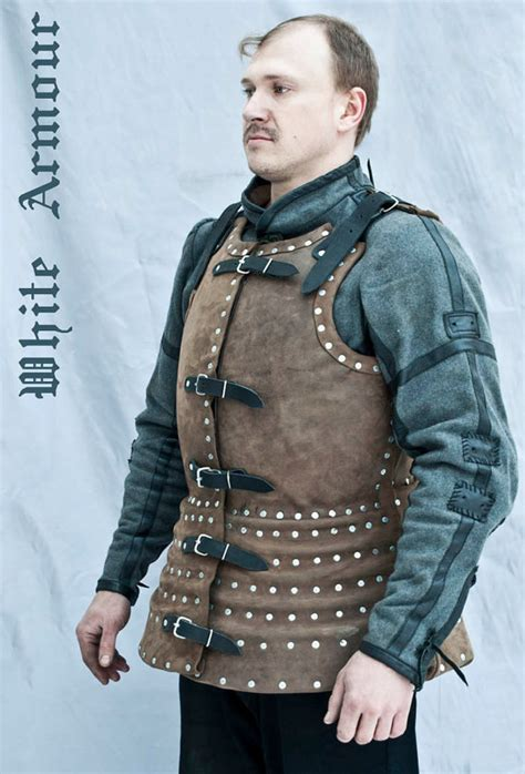 Brigandine armor with leather covered warrior costume SCA LARP