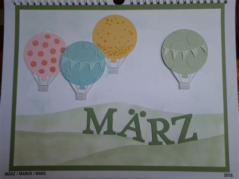 Stampin Up Calendar 2015 - Kalender 2015 March made with
