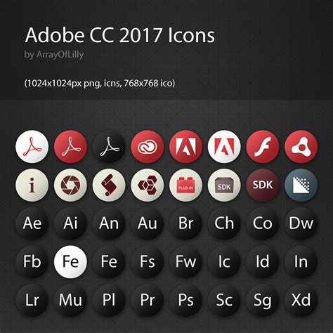 Adobe CC 2017 Icon Pack (Update!) – ArrayOfLilly