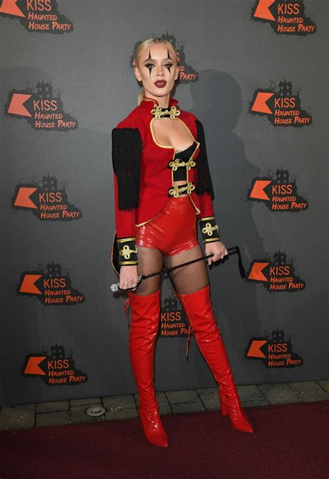 ZARA LARSSON at Kiss FM Haunted House Party in London 10