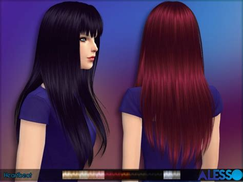 Sims 4 Hairs ~ The Sims Resource: Straight hairstyle with