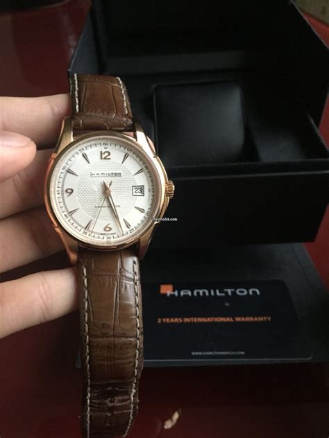 Hamilton Jazzmaster Viewmatic Rose Gold for $610 for sale