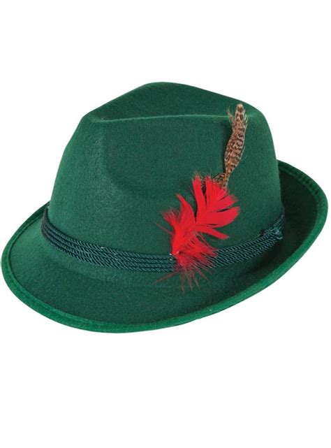 Deluxe Oktoberfest Hat with Feather by Wicked AC-9163