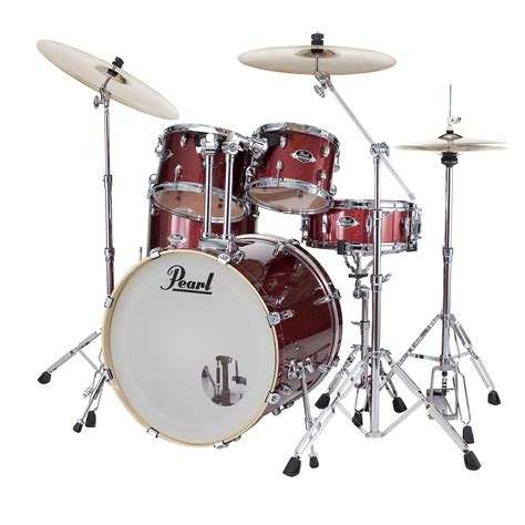 """Pearl Export 20"""" Black Cherry Glitter Complete Drumset"""