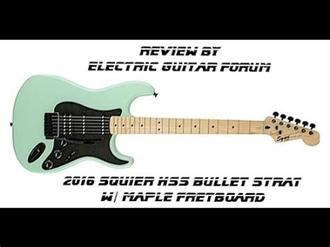 REVIEW- AWESOME CHEAP GUITAR! Squier HSS Bullet Strat Surf