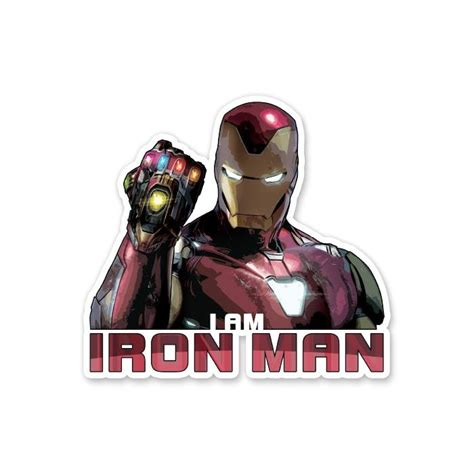I Am Iron Man | Official Marvel Stickers | Redwolf