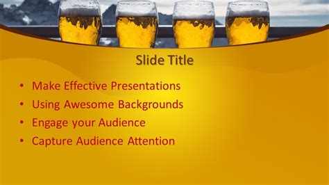 Free Beer PowerPoint Template - Free PowerPoint Templates