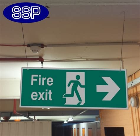 Basic Hanging Fire Exit Signs | SSP Print Factory