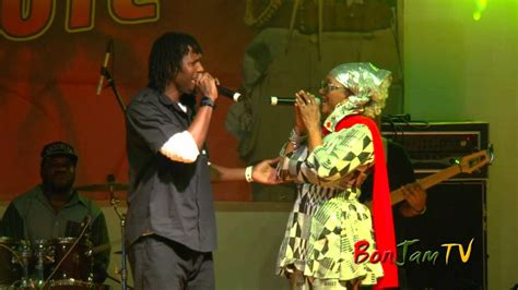 Marcia Griffiths & Son Taff Perform 'All My Life' - YouTube