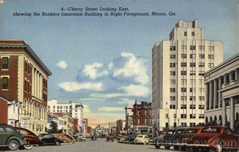 Cherry Street Looking East, showing the Bankers Insurance