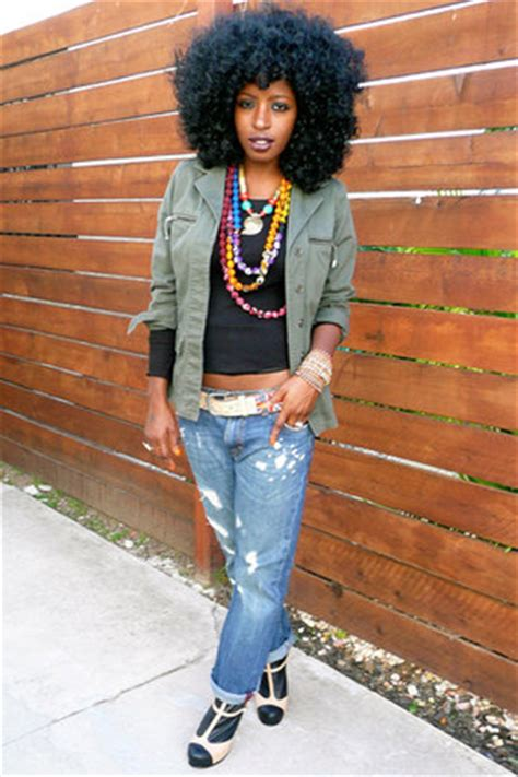 """Navy H&M Jeans, Olive Green Vintage Jackets   """"Happy Val's"""