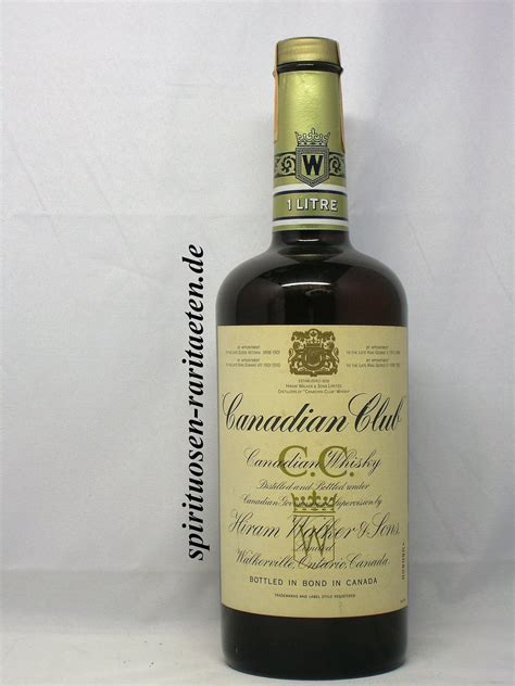 Canadian Club alte Flasche mit Banderole 1978 1,0l - Welt