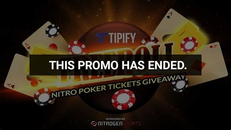 Tipify Freeroll - Nitro Poker Tickets Giveaway