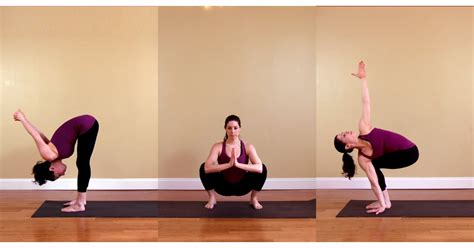 Yoga Sequence For Legs and Core | Poster | POPSUGAR Fitness
