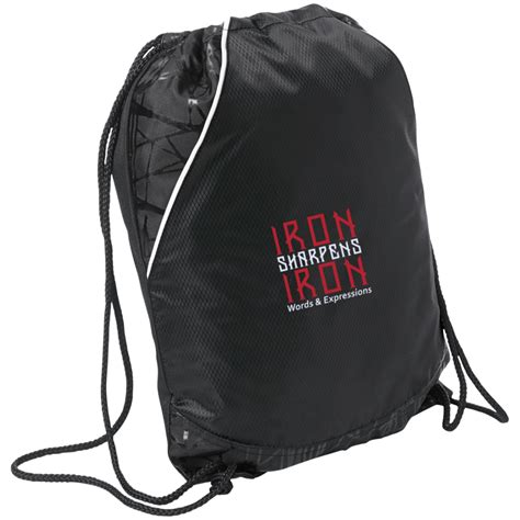 """""""Iron Sharpens Iron"""" Embroidered Two-Toned Cinch Pack"""