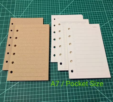 Planner Inserts for A7 Pocket Size Filofax Planners   eBay