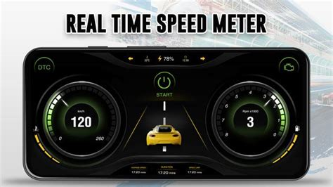 GPS Speedometer: Car Dashboard OBD2 Speed Limit for