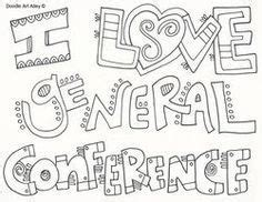 General Conference Doodle Coloring pages | Lds conference