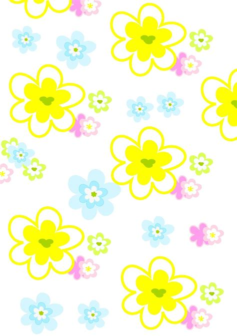 Free digital floral scrapbooking papers : blossoms