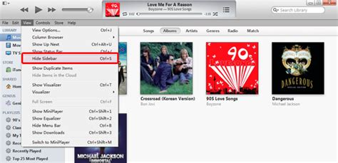 How to restore the sidebar in iTunes11 | Slideshow Software