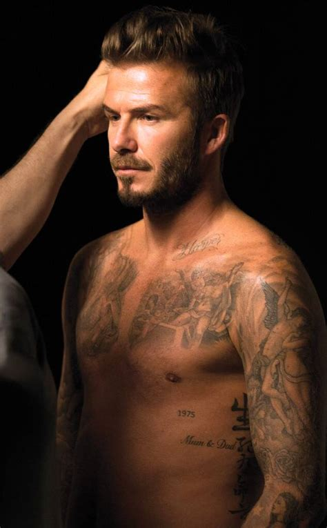 A Guide to David Beckham's Sexiest Tattoos (You're Welcome