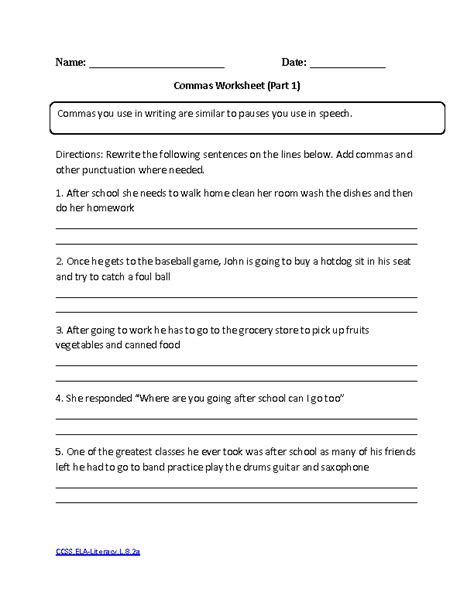 13 Best Images of Punctuation Worksheets For Middle School
