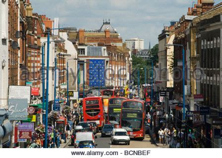 Putney High Street London Stock Photo, Royalty Free Image