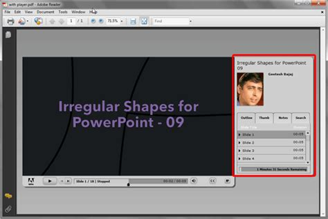 Adobe Presenter: Create PDFs containing Animation and