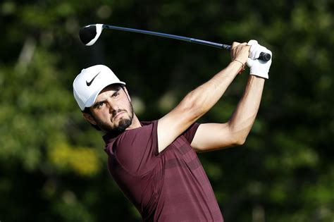 Dell Technologies Championship leader Abraham Ancer trying