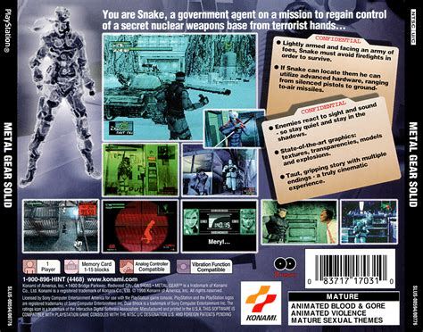 Metal Gear Solid PSX cover