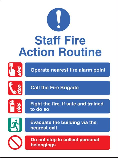 Staff Fire Action Routine Sign | SSP Print Factory