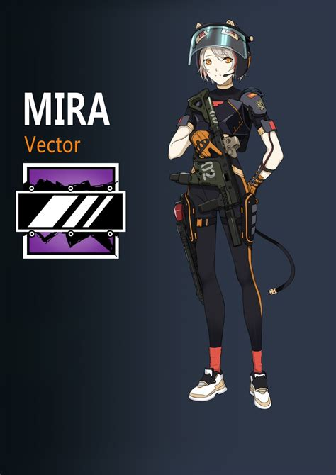 mira and vector (girls frontline and rainbow six siege