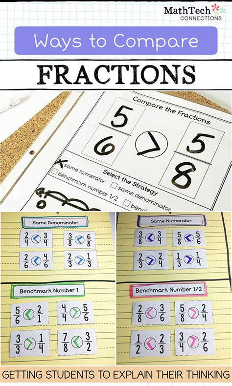 Ways to Compare Fractions   Upper Elementary Snapshots