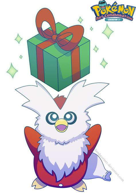 #225 Delibird used Present and Aurora Beam in the Game-Art