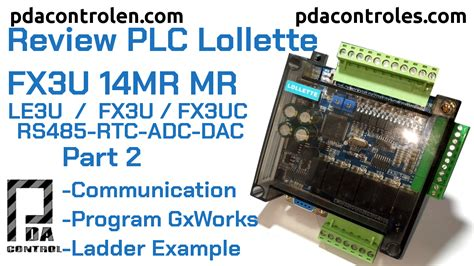First Test Programming PLC Lollette FX3U 14MR / LE3U