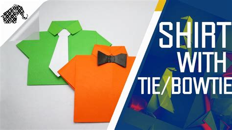 Origami - How To Make Shirt With Tie/Bowtie - YouTube