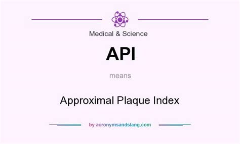 API - Approximal Plaque Index in Medical & Science by