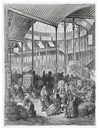 Borough market: 1872 by Gustave Doré at Museum of London