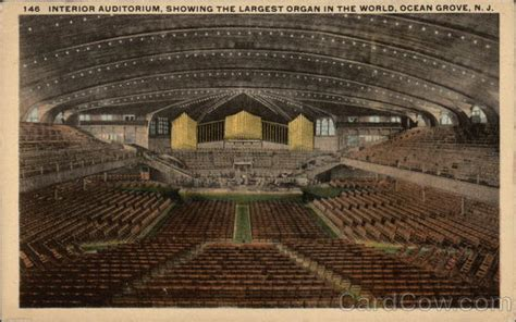 Interior Auditorium, Showing the Largest Organ in the